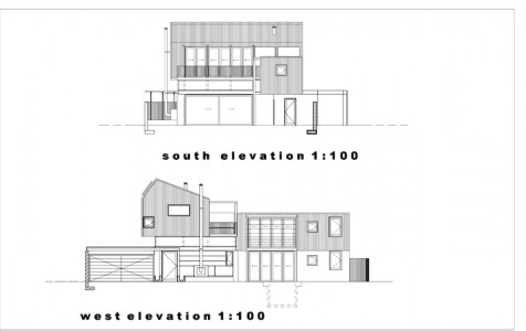 South &amp; West elevations